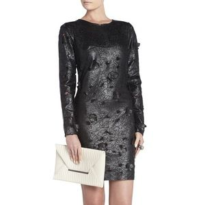 NWT BcbgMaxzaria leather dress